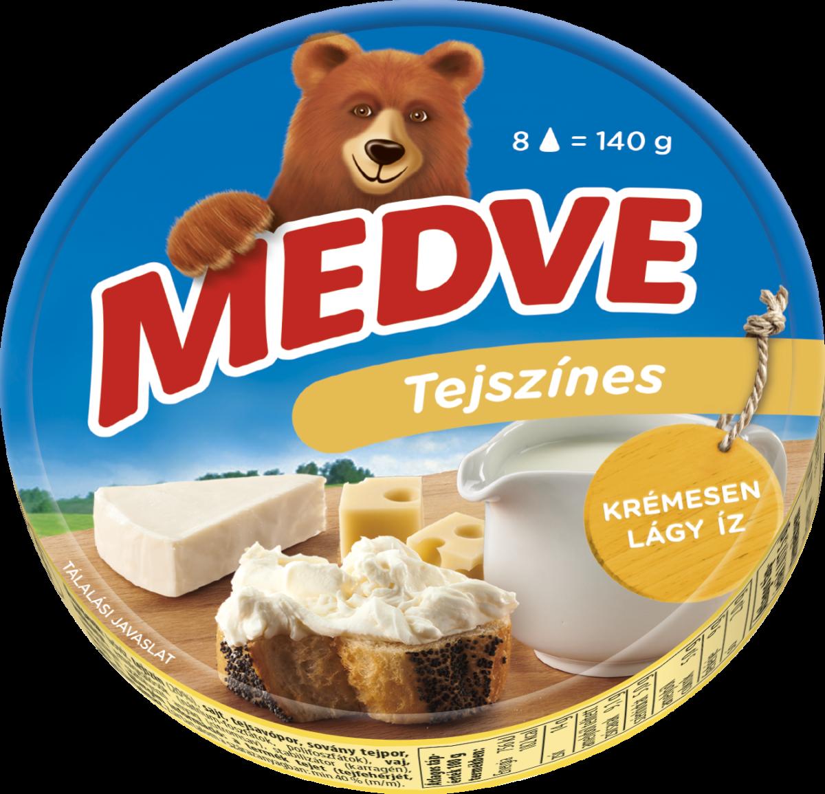 Medve tejszínes kördobozos kockasajt 140g
