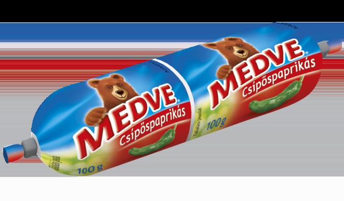 Medve Tömlős Sajt Csípőspaprikás