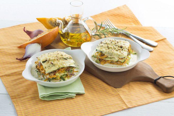 Őszi sütőtökös cukkini lasagne