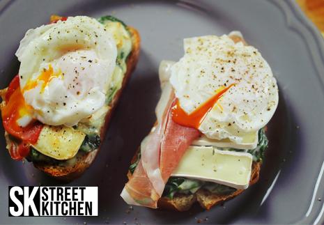 Spenótos-camembert krémes szendvics a Street Kitchentől