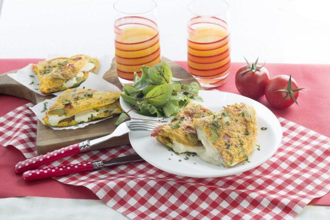 Vegetáriánus omlett sajtimádóknak