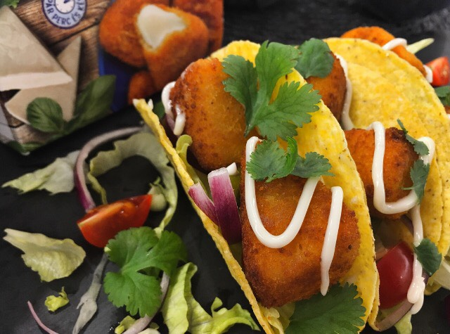 Fried cheese taco