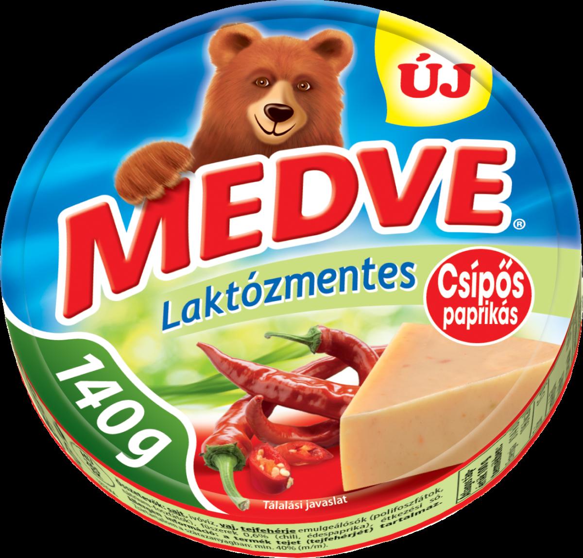 Medve laktózmentes csípős paprikás kockasajt